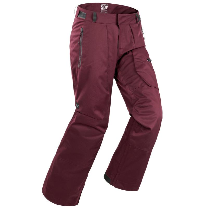Men's skiing and snowboarding trousers 500 Red