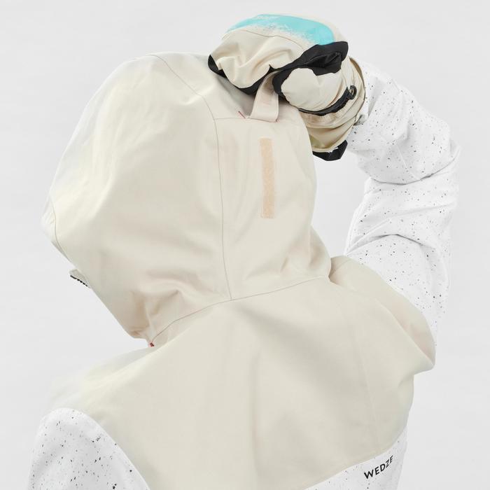 Veste de snowboard et de ski femme SNB JKT 500 AO Blanc
