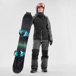 Snowboard- en skibroek met bretels voor dames SNB BIB 900 zwart