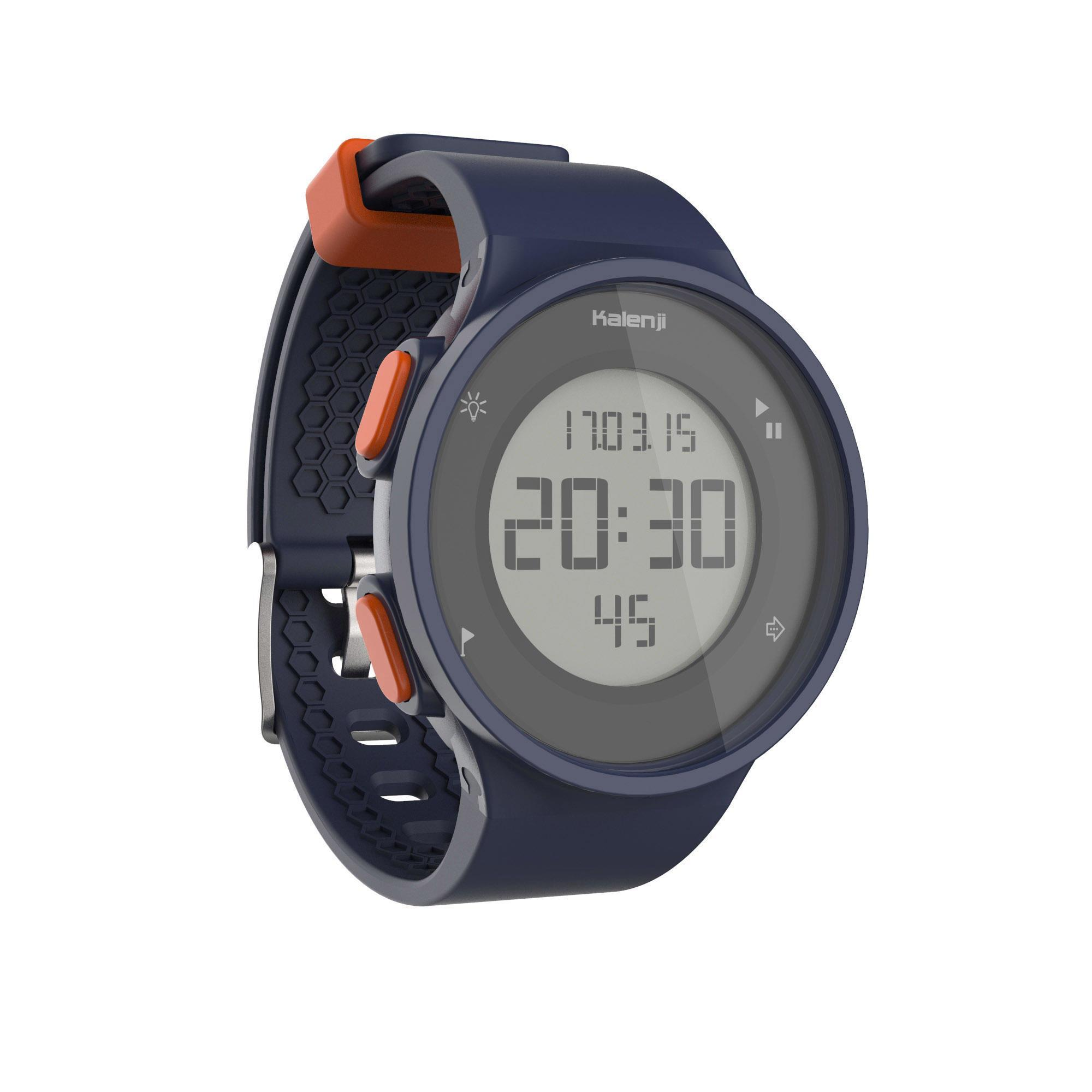 Sportuhr Stoppuhr W500 M blau/orange