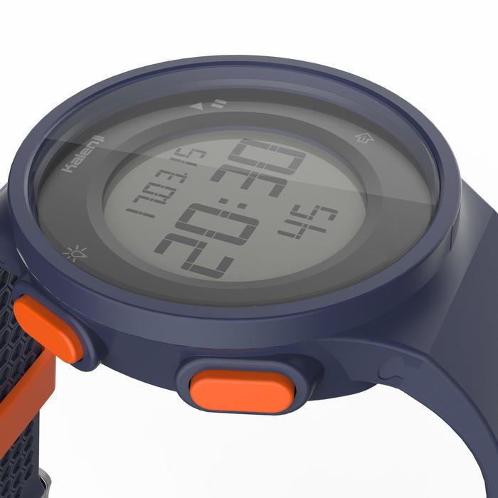 Montre chronomètre de course à pied W500 M bleue et orange