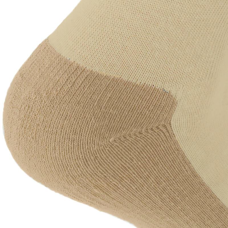 ถุงเท้ายาวสำหรับใส่เดินในเส้นทางธรรมชาติรุ่น NH100 แพ็ค 2 คู่ (สีเบจ)