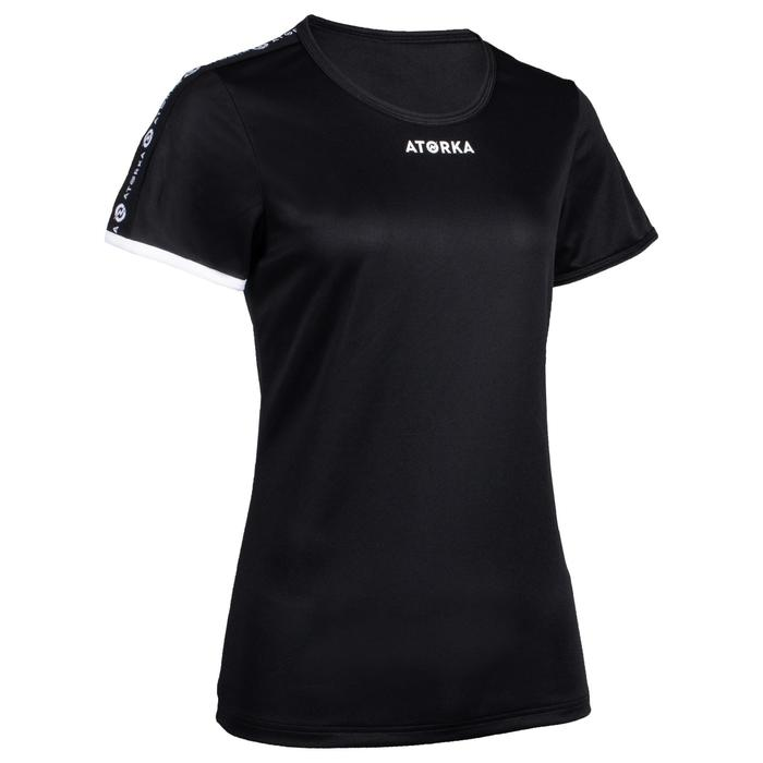Maillot manches courtes de handball femme H100C noir