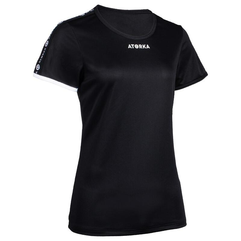Camiseta Balonmano Atorka H100C mujer negro