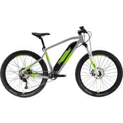 Vélo VTT électrique e-ST 500 gris et jaune