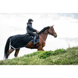 Manta riñonera equitación caballo POLAR 500 negro