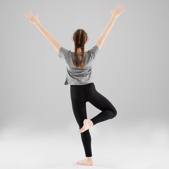 Naadloze meisjeslegging voor moderne dans zwart