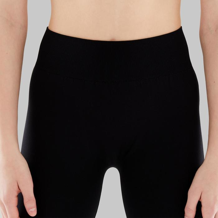Legging voor moderne dans meisjes zwart naadloos