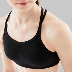 Soutien-gorge de danse moderne fille à bretelles croisées noire