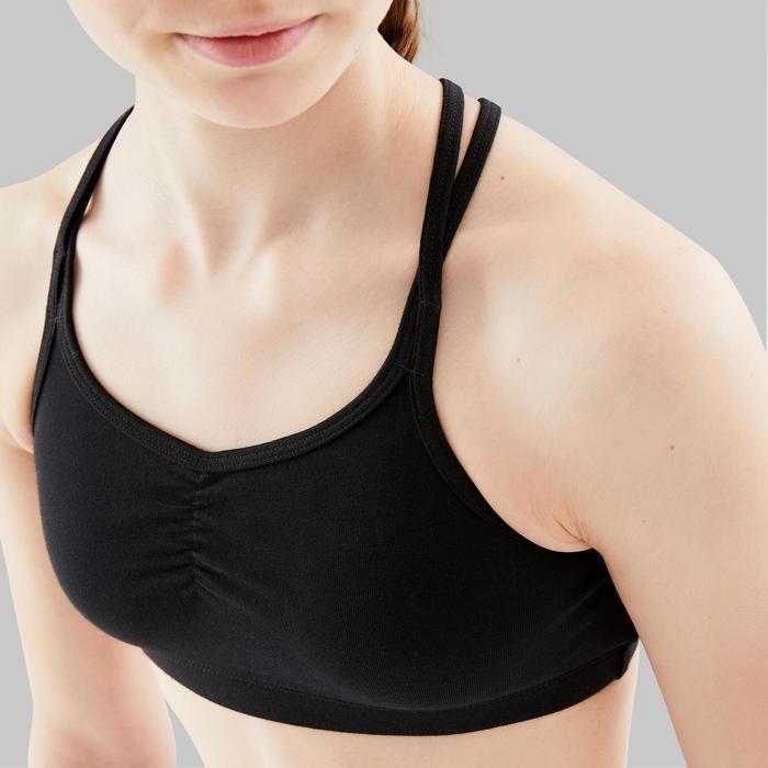 Topje met gekruiste bandjes voor moderne dans meisjes zwart