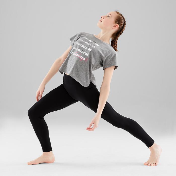 Leggings Modern Dance Mädchen schwarz nahtlos