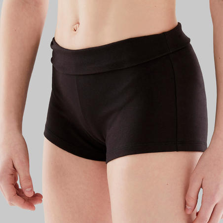 Slim-Fit Modern Dance Shorts Black - Girls