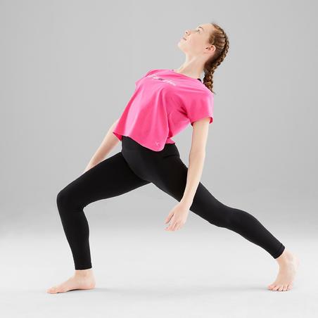 Girls' Modern Dance T-Shirt - Blue/Pink