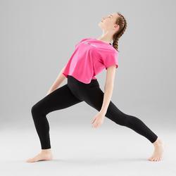 Soepel T-shirt voor moderne dans meisjes donkerroze