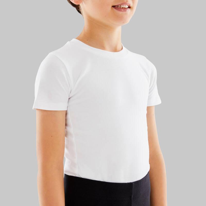 DÍVČÍ TRIKOTY, OBLEČENÍ NA BALET Cvičení pro děti - TRIČKO NA BALET BÍLÉ STAREVER - Dětské oblečení na cvičení