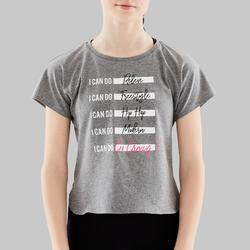 Camiseta de danza moderna niña gris