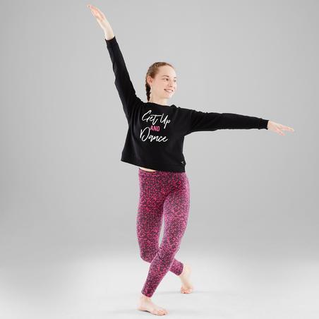 Girls' Hooded Modern Dance Sweatshirt - Black