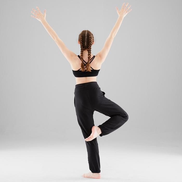 Pantalon modulable de danse moderne fille noir