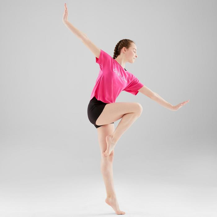 Aansluitende meisjesshort voor moderne dans zwart