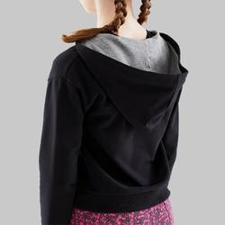 Sudadera con Capucha de Danza Moderna Domyos Niña Negro