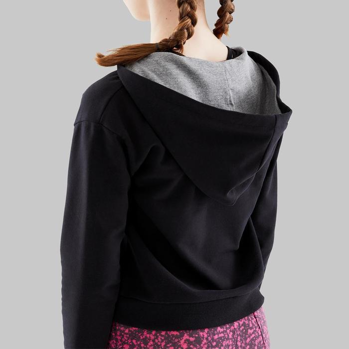 Sudadera de danza moderna con capucha niña negro