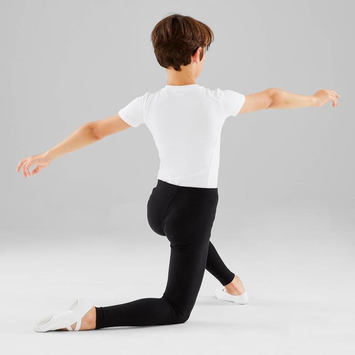 T-shirt met korte mouwen voor ballet jongens wit