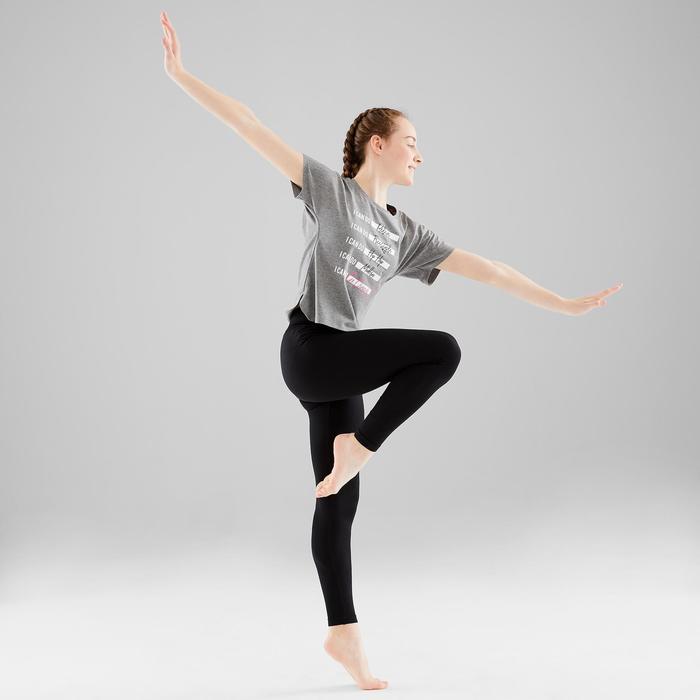 Legging de danse moderne fille noir sans couture