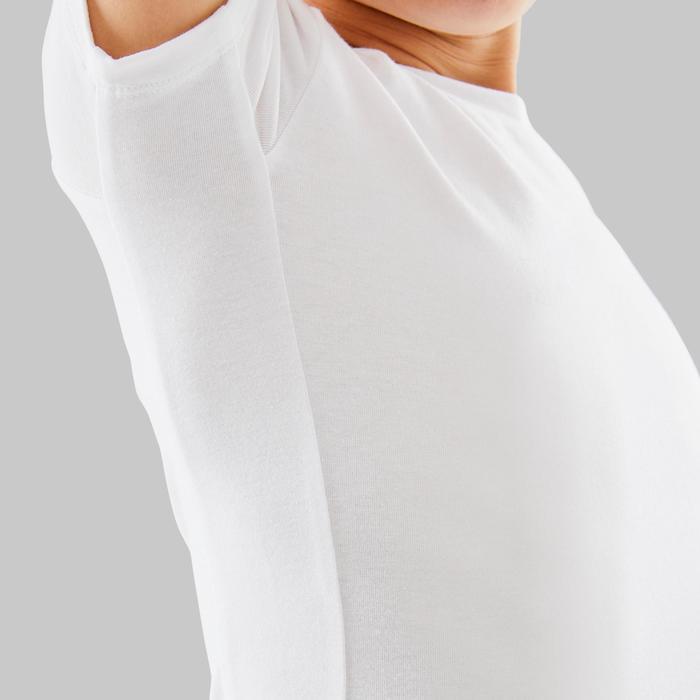 Ballet T-shirt met korte mouwen voor jongens wit