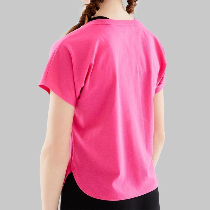 Tee-shirt de danse moderne fille rose