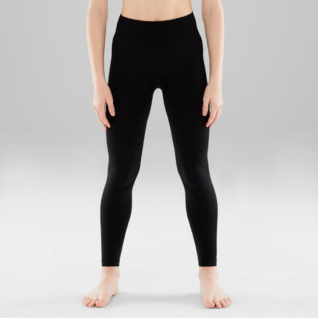 Girls' Seamless Modern Dance Leggings - Black