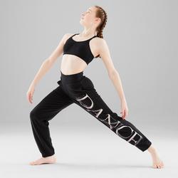Tanz-Bustier Modern Dance gekreutzte Rückenträger Mädchen schwarz