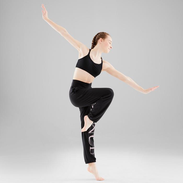 Broek voor moderne dans meisjes zwart aanpasbaar