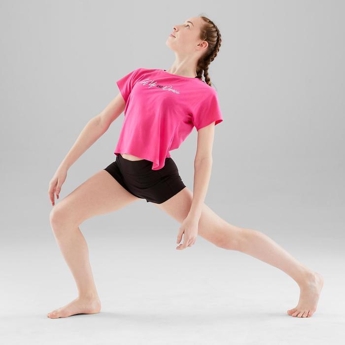 Mini short moulant danse moderne fille noir