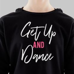 Sweat de danse moderne fille à capuche noir