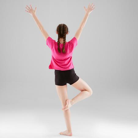 Girls' Modern Dance Draping T-Shirt - Dark Pink