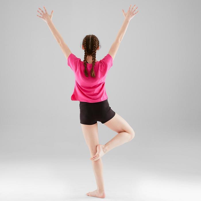 T-shirt danse moderne rose foncé fluide fille