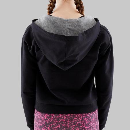 Chandail de danse moderne à capuchon noir - Filles
