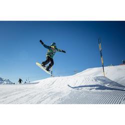 Snowboard- en skibroek voor jongens SNB PA 500 donkerblauw