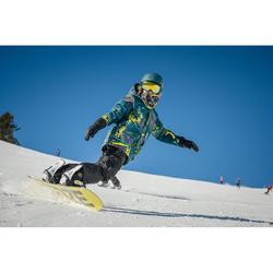 Ski- en snowboardjas voor jongens SNB 500 petrolblauw en geel