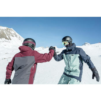 Men's Snowboarding (and skiing) jacket SNB JKT 500 - Green