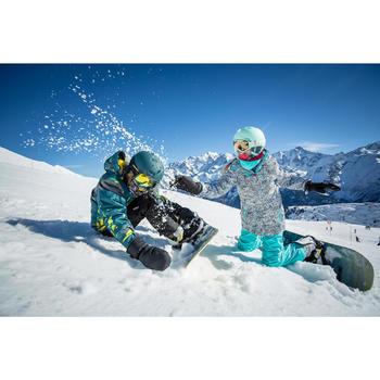 Snowboard- en ski-jas voor meisjes SNB 500 turquoise en aardbeiroze
