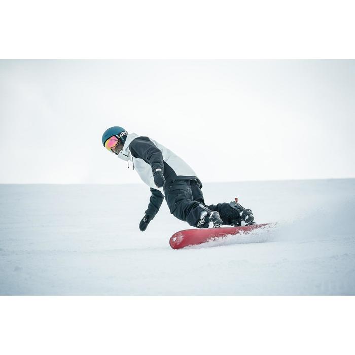 Snowboard SNB 100 Piste & Allmountain Herren schwarz/braun/rot