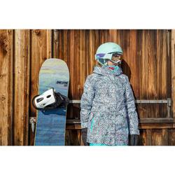 Snowboardjacke Skijacke SNB 500 Mädchen türkis/rosa