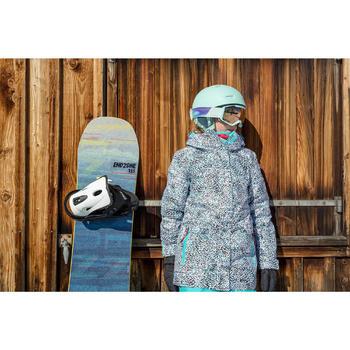 Veste de snowboard et de ski SNB 500 fille turquoise et rose fraise