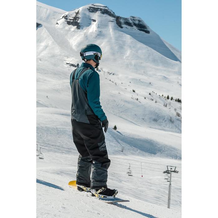 Peto de Snowboard y Nieve, Wed'ze SNB Bib 900, Impermeable, Hombre, Negro
