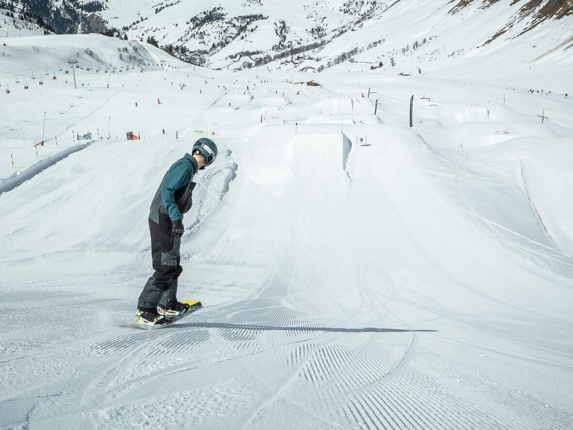 snowboarding and muscle development