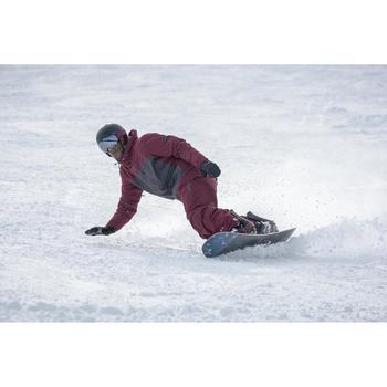 Pantalón de snowboard, Wed'ze SNB PA 500, Impermeable, Hombre, Burdeos