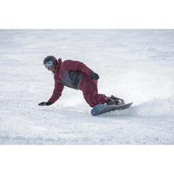Snowboard broek / skibroek voor heren SNB PA 500 bordeauxrood Decathlon Wedze