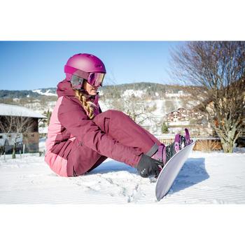 Snowboardbindingen voor piste/off-piste dames Serenity 100 paars