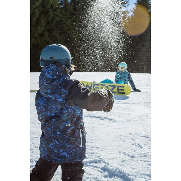 Veste de snowboard et de ski SNB 500 garçon bleu foncé